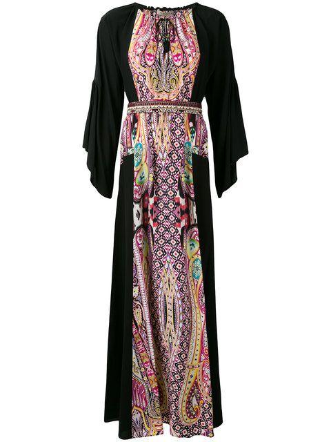 Купить Etro длинное платье-кафтан.
