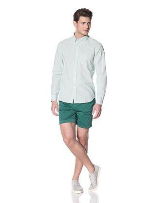 Velour Men's Classic Mini Check Button Shirt