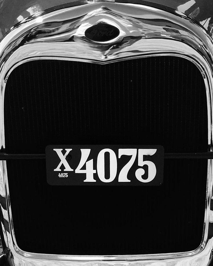 That's one classy #typeface on this #licenseplate  #vintagecar #ford #fordmodela #1922 #businesscoupe #vsco  #vscodenmark