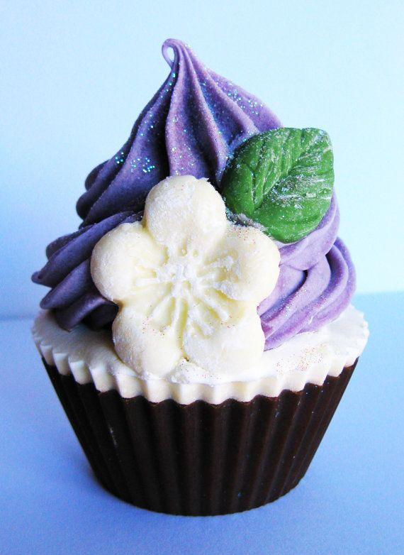 Lavender Vanilla Cupcake Soap by Pitter Pattern Designs Soap Company. I think soap cupcakes are amazing!