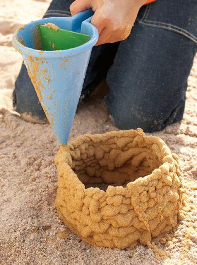 sand funnel - look @Alisha Sopota Sopota Ryan, someone made a tool for drip castles!