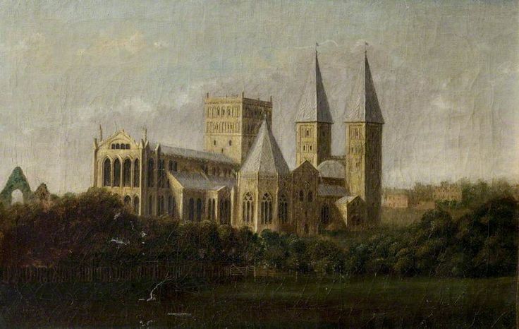 Southwell Minster, Nottinghamshire  by T. Frost        Date painted: 1778
