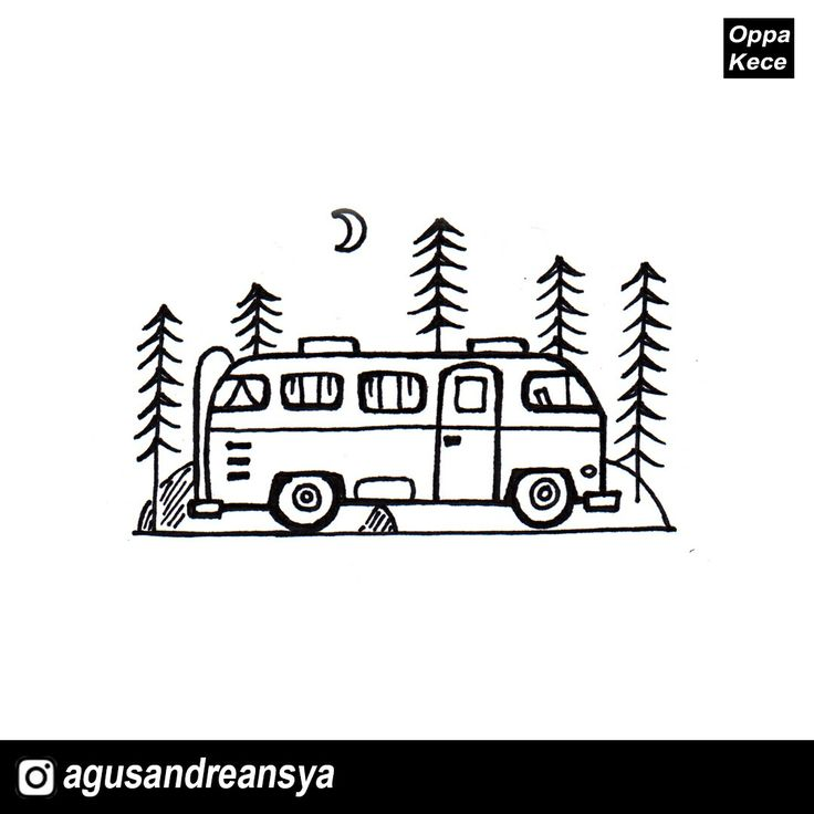 #drawing #art #watercolor #waterproof #painting #doodle #design #camping #campvibes #keepcapped #snowman #volkswagen #oppakece