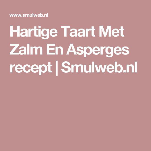 Hartige Taart Met Zalm En Asperges recept | Smulweb.nl