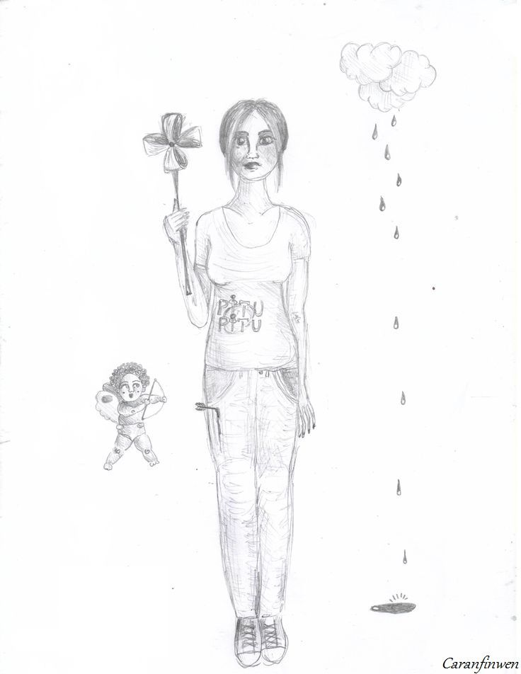 nothing to say. Caranfinwen!  #eros #amor #pinwheel #girl #rain