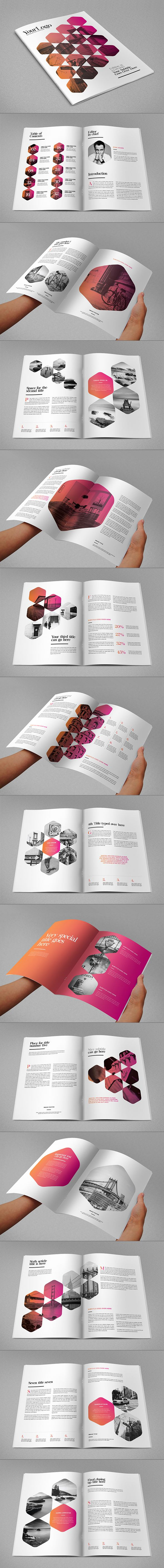 Minimal Modern Clean Magazine. Download here: http://graphicriver.net/item/minimal-modern-clean-magazine/11295103?ref=abradesign #design #magazine