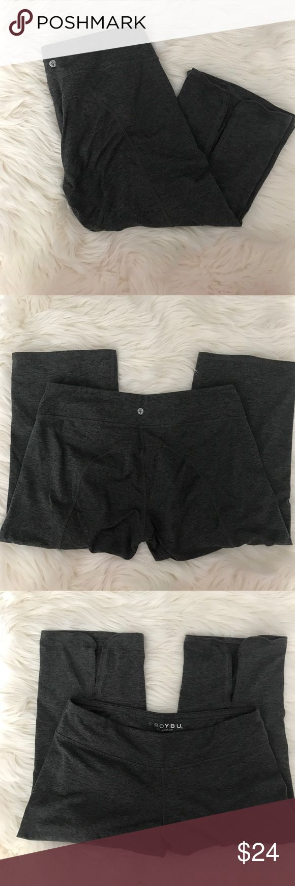 Soybu Lotus Fit Yoga Capri Soybu Lotus Fit Yoga Capri.  Slits at back of knees (shown in photos).  Super cute and comfy.  Offers and bundles welcome :) Soybu Pants Capris