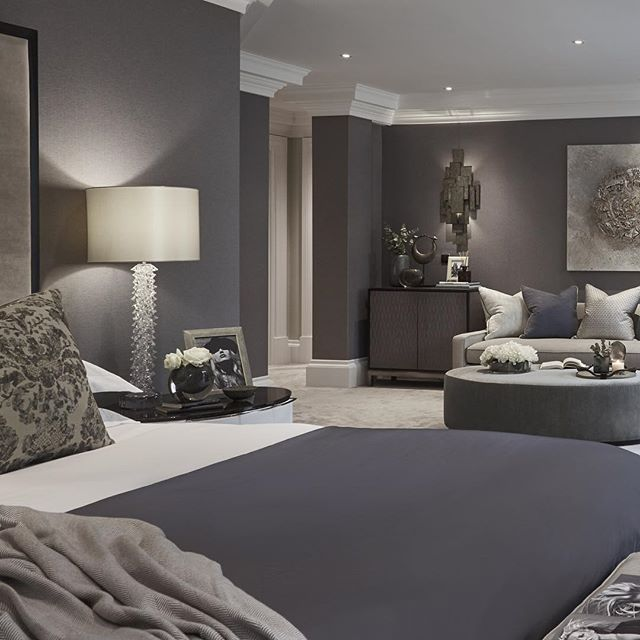 Master bedroom at the wentworth project that we designed last year