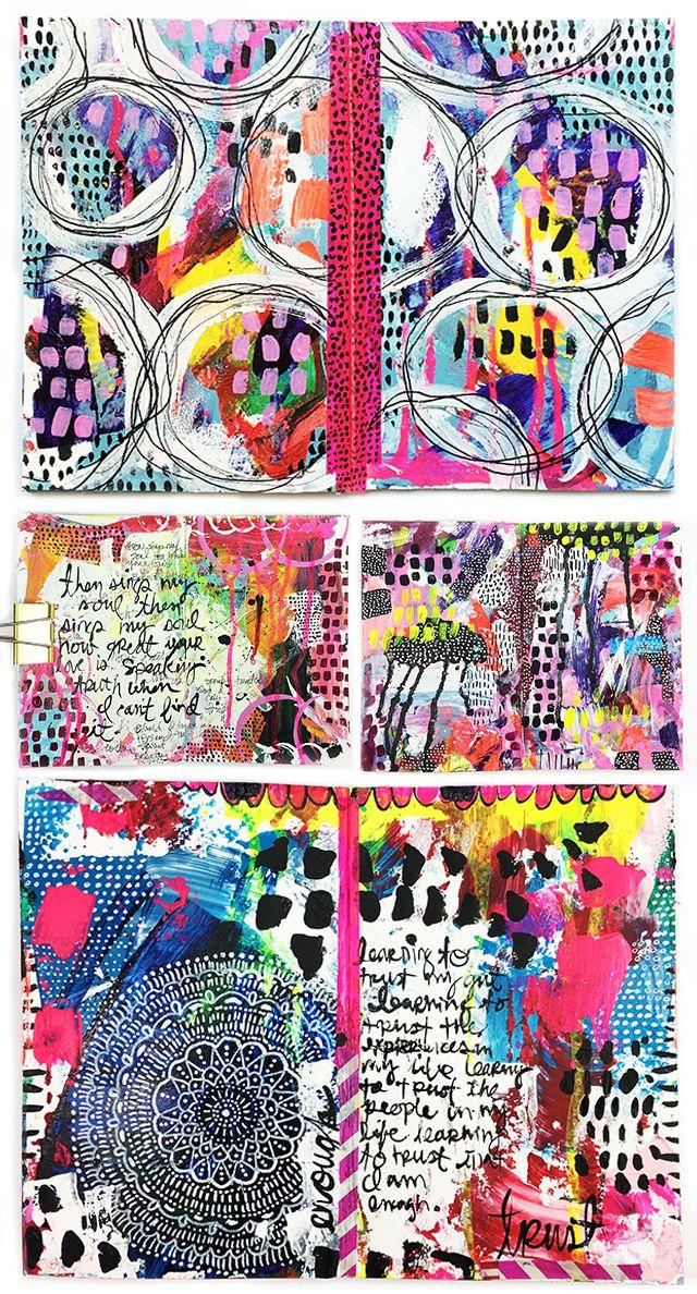 Alisa Burke art journal pages