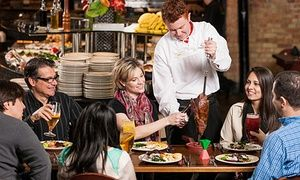 Groupon - Unlimited Brazilian Steakhouse Dinners with Drinks at Rodizio Grill (Up to 43% Off) Four Options Available. in South Shore, Braintree. Groupon deal price: $65