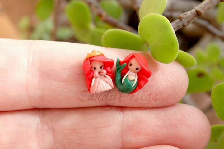 Disney Fimo clay ou polymer : mini ariel et mini aurore                                                                                                                                                                                 Mais