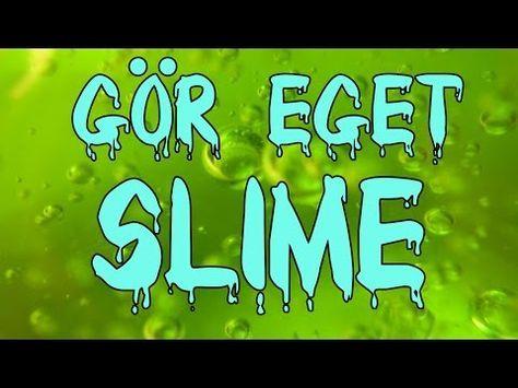 Hur man gör slime/slajm utan lim - recept - AllaGuider.com