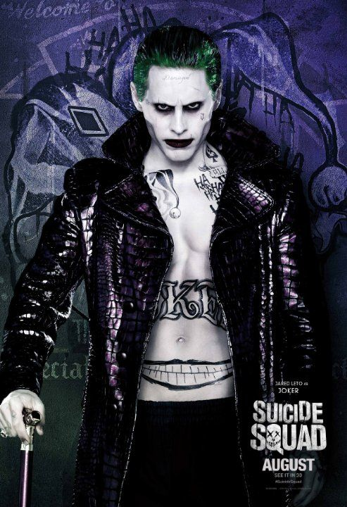 Jared Leto in Suicide Squad (2016) THE BEST PIC I'VE SEEN OF THE NEW JOKER IN MY OPINION