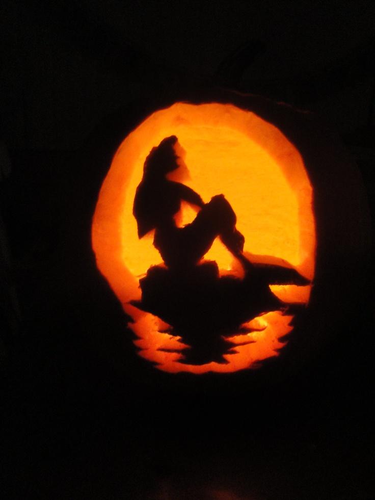 Little Mermaid Printable Pumpkin - 136.4KB
