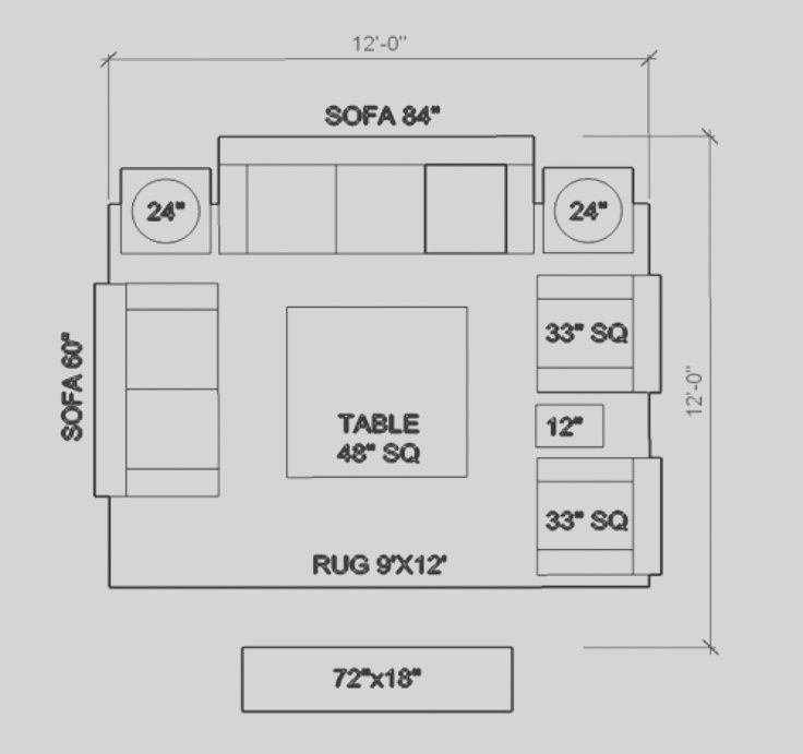 Design Tip Before Going Shopping For Furniture Know The Size Of Your Room And How Much Living Room Furniture Layout Living Room Floor Plans Living Room Plan