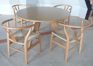Jean Prouve Retro Inspired Wooden Dining Round Designer Table Natural  Gueridon | EBay
