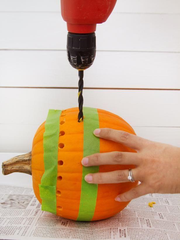 How to Make a Pretty Fretwork Pumpkin