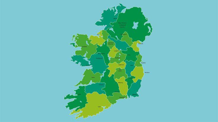 Mapa político de Irlanda