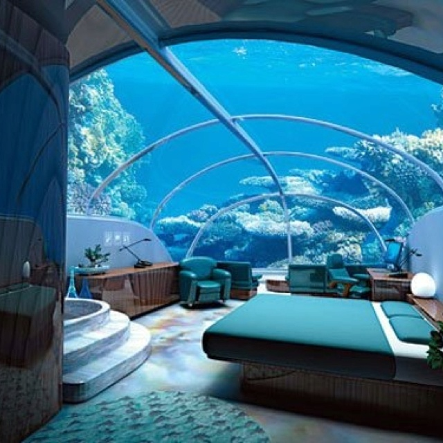 Somewhere in Figi..how fun would that bedroom be...giggle.