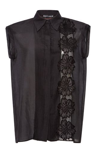 Collared Floral Blouse by ROCHAS for Preorder on Moda Operandi