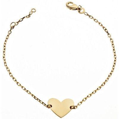 Maija Design | Armband Goldherz mit individueller Gravur - 925er Sterlingsilber goldplattiert