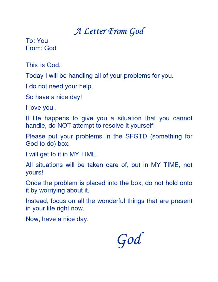 A love letter to God