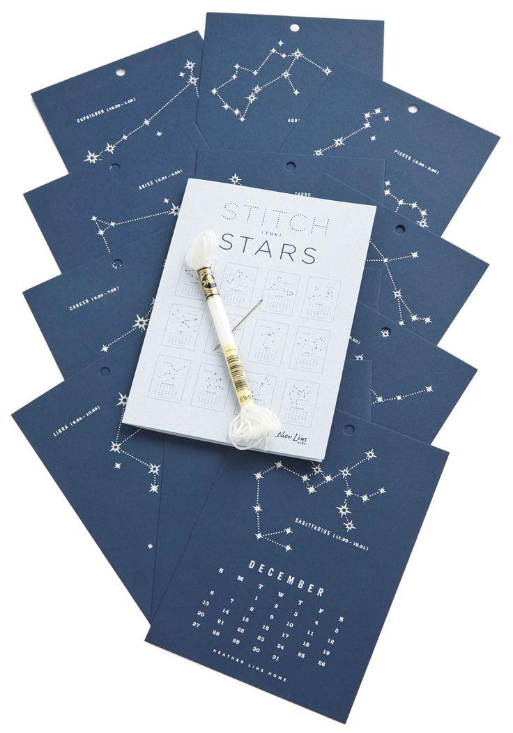 Stitch Upon the Stars 2015 Calendar, #ModCloth $24.99