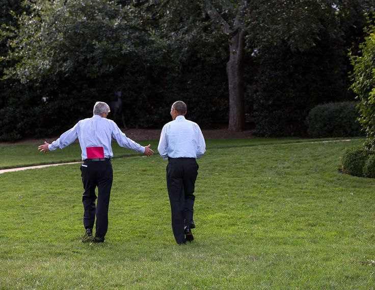 """Pete Souza on Instagram: """"Three years ago today: the man with the red folder. President Obama heads back to the Oval Office with Chief of Staff Denis McDonough after…"""""""