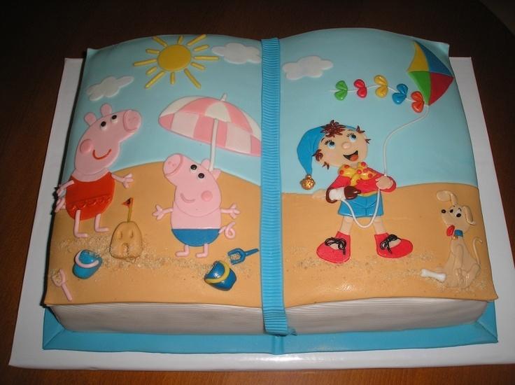 peppa pig   noddy   storybook cake