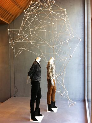 (Arnold Goron) | DIY Geometric Installation: http://ohhappyday.com/2013/05/geometric-party-installation/