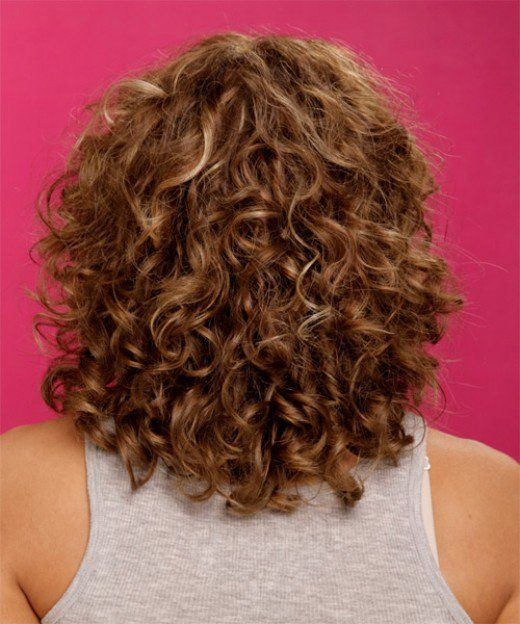 Curly medium-length hairstyle