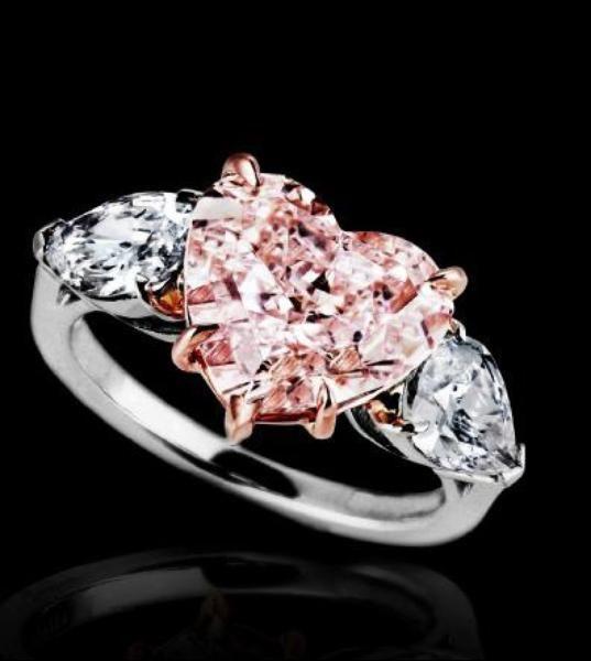 Fancy Pink Heart-Shaped Diamond Ring