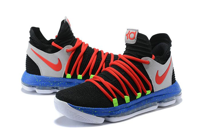 best website c129b f516d Kevin Durant Nike KD 10 X Black Red-Cool Grey-Blue Legit Cheap