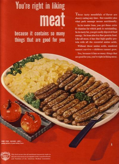 MEAT: Meat American, Institut 1940, 1946 Ads, American Meat, Vintage Observed, Adverti Stuff, Vintage Ads, Meat Ads, Meat Institut