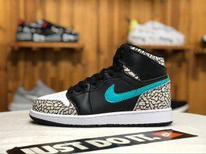 8c9e24ac509d62 Air Jordan 1 Unsupreme Burst crack Black white Mint blue 838850-013 Mens  Womens Sneakers