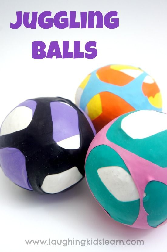 How to make juggling balls using rice and balloons