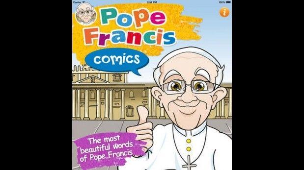 48 - 2014 - 20 de Febrero - Los cómics del Papa Francisco en una app - Su nombre es Los cómics del Papa Francisco y es una aplicación desarrollada por Master New Media, para dispositivos iOS (especialmente iPad).