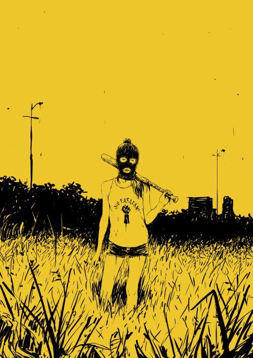 Ilustraciones de la soledad y desilusión de una generación que tiene todo que…