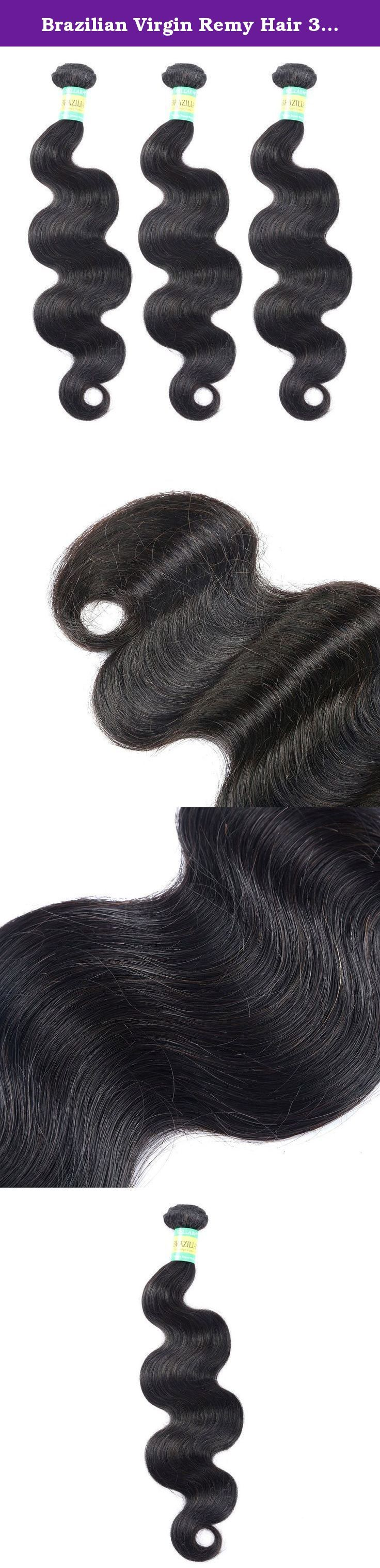 """Brazilian Virgin Remy Hair 3 Bundles, Body Wave, Virgin Unprocessed Hair,12""""-30"""" (3 Bundles 20inches). 100 grams per bundle.Total 3 bundles 300g in package. Hair type: 100% Brazilian Virgin hair, Unprocessed, Remy hair Good quality. Color: Natural color Weight: about 100g (95grams--105grams) Style: Body Weave (Can be Pressed, Dyed or Curled) The hair can be dyed to any colour of your choice. It can also be permed, straightened, tongued and treated just like your own natural hair. Full…"""