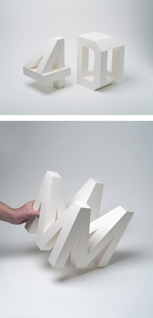 4D Typography by Lo Siento | Inspiration Grid | Design Inspiration