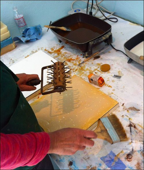 A beginner's guide to encaustic art (painting with wax)