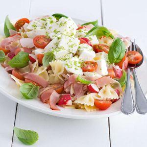 2 augustus - Coburger ham in de bonus - Recept - Pastasalade met radijs en rauwe ham - Allerhande