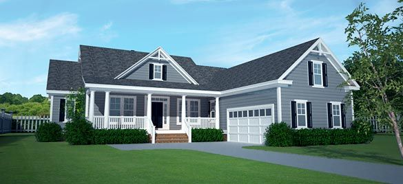 73 best cape cod homes images on pinterest home ideas for L shaped craftsman home plans