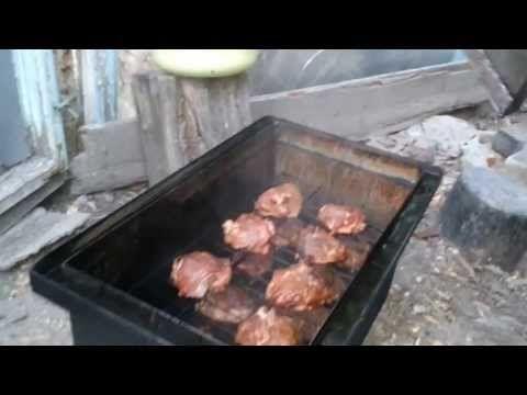 Коптильня. Как избавиться от капель конденсата с сажей на мясе. - YouTube