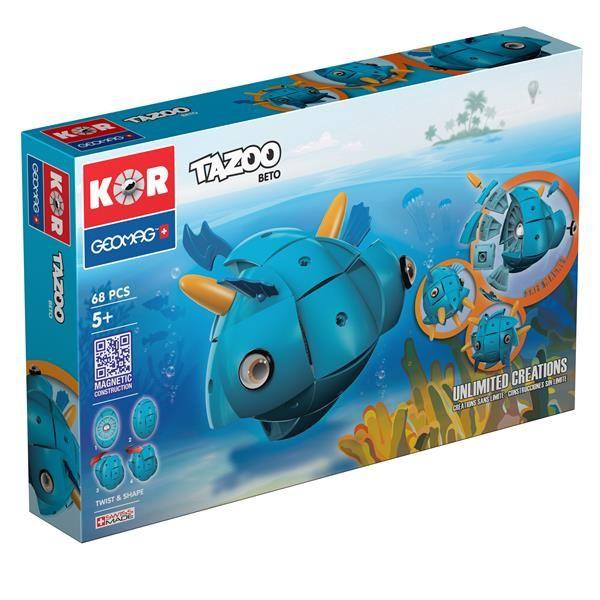 Klocki konstrukcyjne Geomag KOR Tazoo 68 elementów - Beto