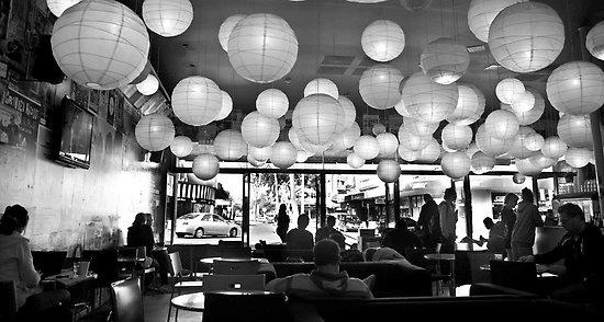 Perth - Greens & Co cafe, Leederville #perth #leederville #chineselanterns #greensandco #cafe #oxfordst #westernaustralia #australia