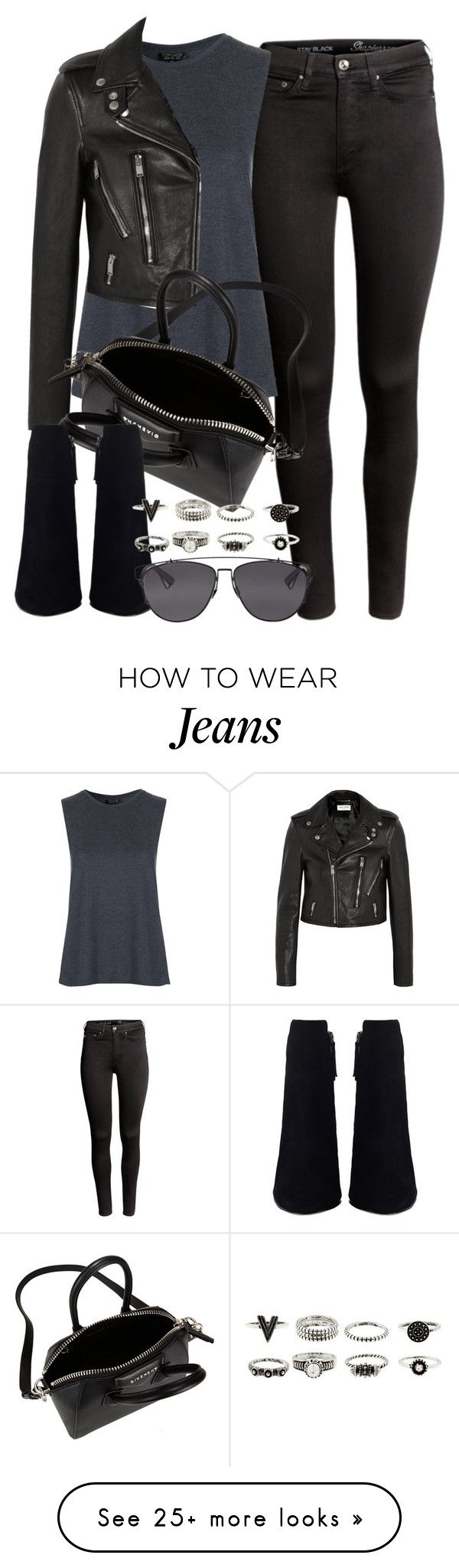 """""""Style #9442"""" by vany-alvarado on Polyvore featuring H&M, Topshop, Yves Saint Laurent, Givenchy and Christian Dior"""