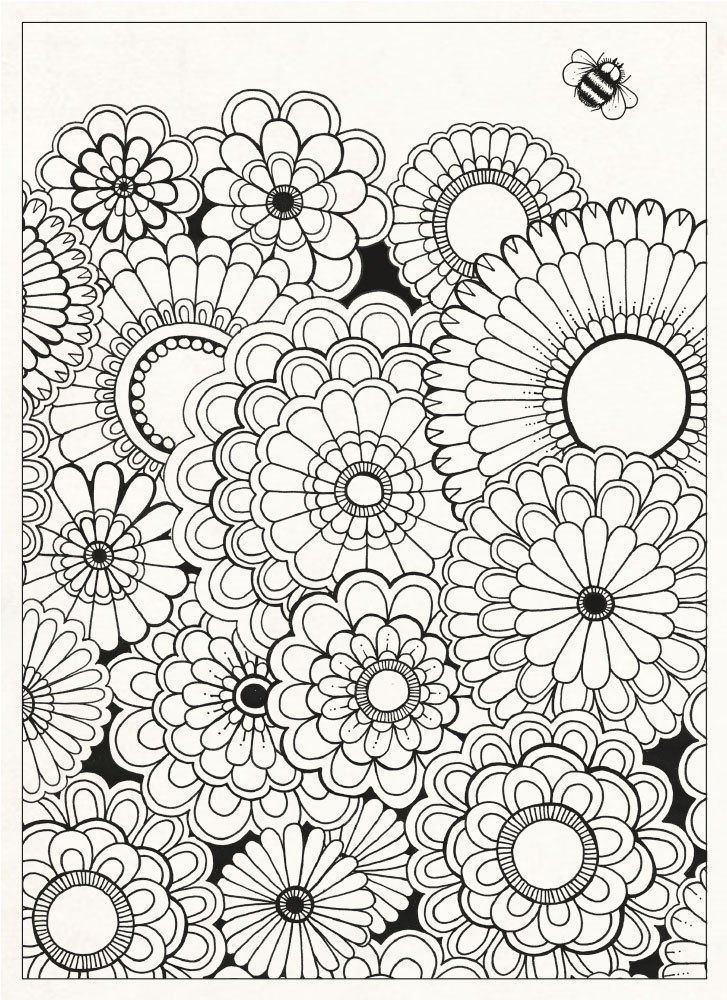 Garden Flowers Coloring Pages For Adults. Also see the category ...