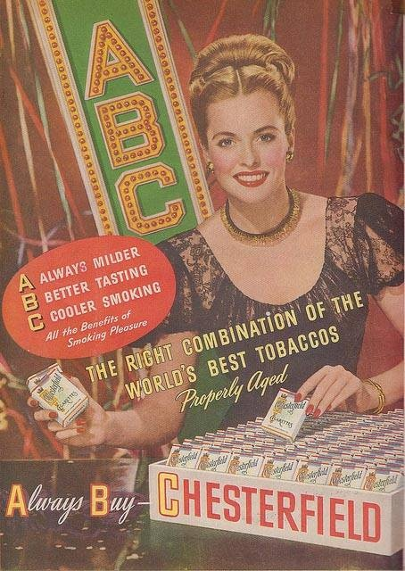 Chesterfield | Tabaco vintage advert