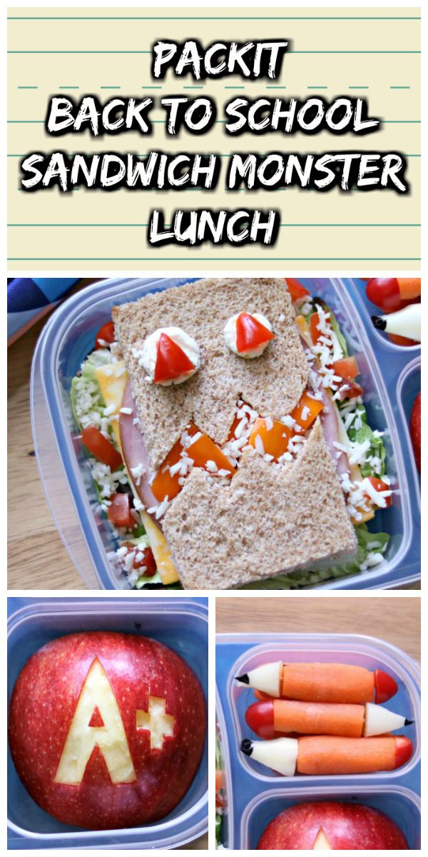 This @PackIt Sandwich Monster lunch will definitely add some back to school fun to your kids lunchbox! #ad #PackItCool